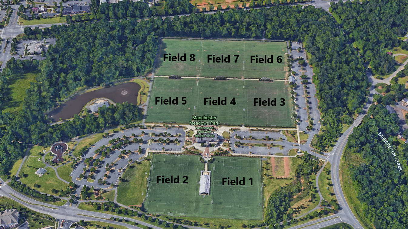 Manchester Meadows Field Layout